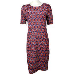 LULAROE Red Blue Julia Dress Medium